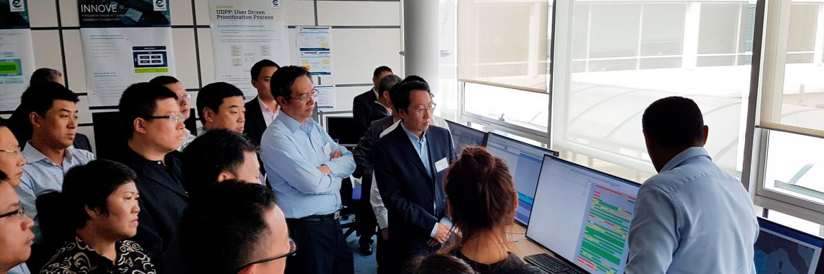Chinese experts touring the simulation and validation facilities at our Experimental Centre (EEC)