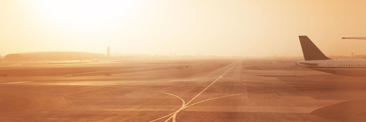 Airport in the desert