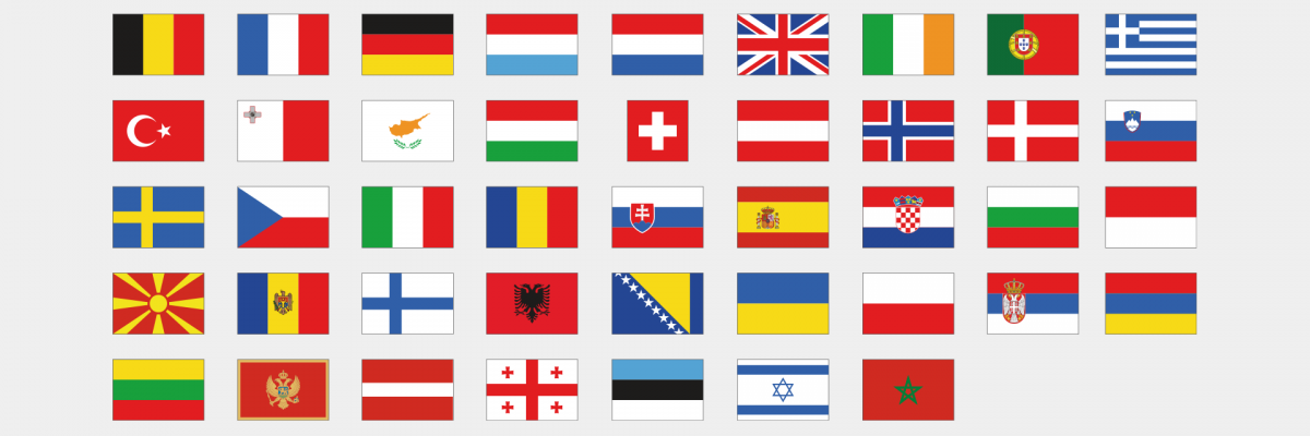 Flags of EUROCONTROL Member and Comprehensive Agreements States