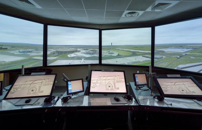 Control tower simulation running IWTP
