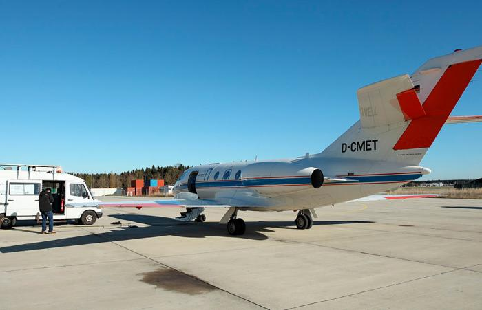 A Dassault Falcon 20E provided by DLR used for LDACS testing