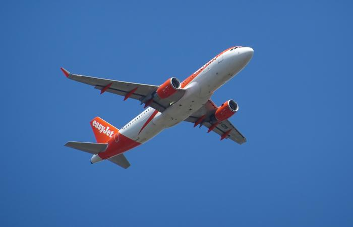 easyJet airplane in flight