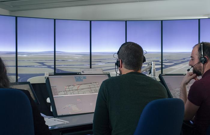 EUROCONTROL simulation at Charles de Gaulle airport