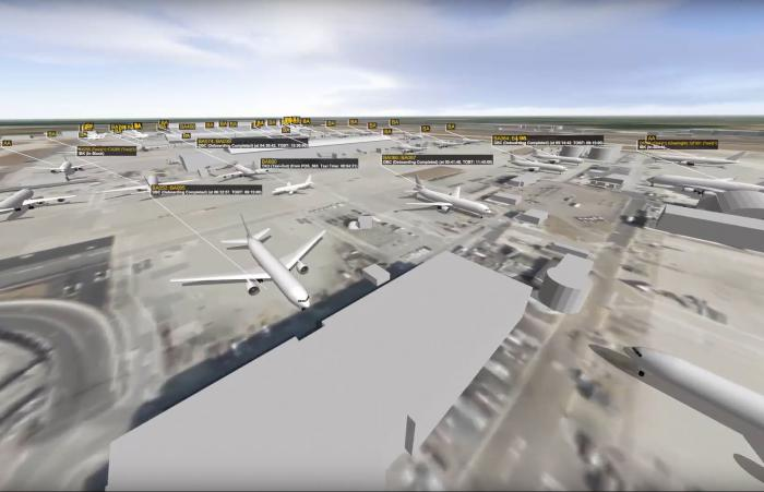 CAST simulation of London Heathrow Airport - video thumbnail