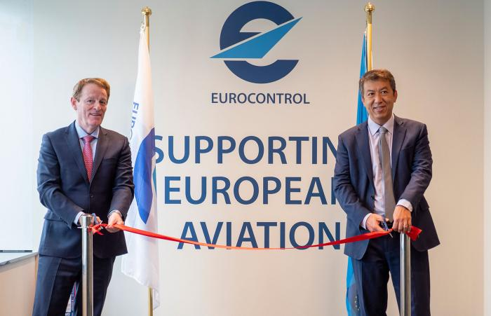 Director General EUROCONTROL Eamonn Brennan and the European Union Aviation Safety Agency (EASA) Executive Director Patrick Ky together officially opened the joint EASA-EUROCONTROL Technical and Coordination Office (TeCO) at EUROCONTROL's Brussels Headquarters.
