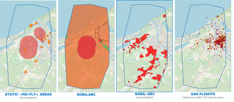Air Risk Class (ARC) & Ground Risk Class (GRC) Map